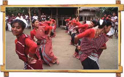 Bihu Dance During Rongali Bihu