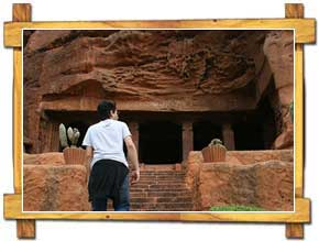 Entrance to the Badami Cave