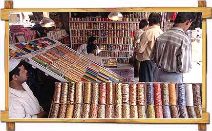 Bangles at a stall in Jaipur Market