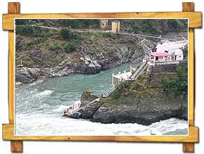 Confluence of Rivers Alaknanda and Bhagirathi at  Deoprayag