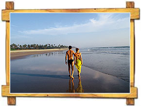 Couple Walking Along Beaches Goa