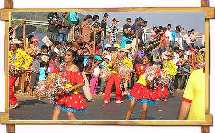 People Celebrating Goa Carnival , Goa