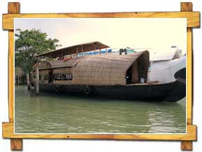 Houseboats on Backwater of Kochi