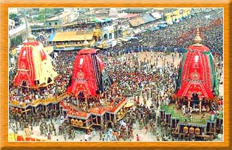 Crowd at Lord Jagannath's Yatra,Puri