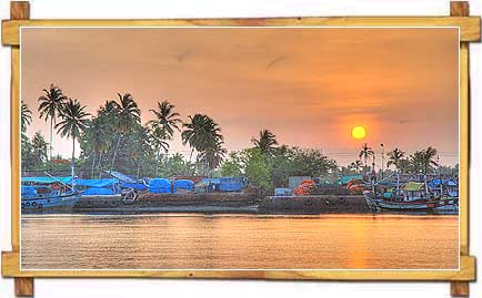 Sunset at River Sal , Margao