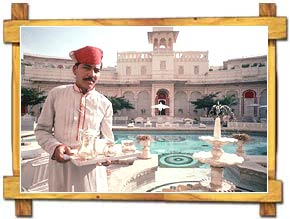 Waiter at Shiv Niwas Palace Hotel,Udaipur