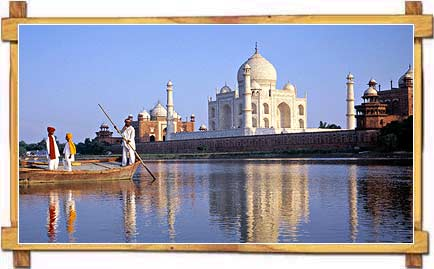 Tajmahal on the bank of river Yamuna